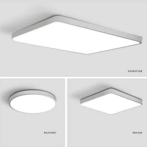 LED Dimmable Thin Flush Mount Lamp Home Fixture