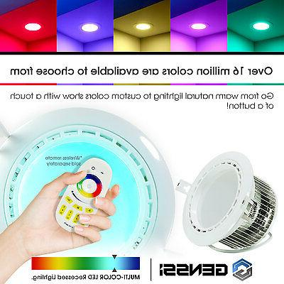 led recessed light fixture downlight rgb white