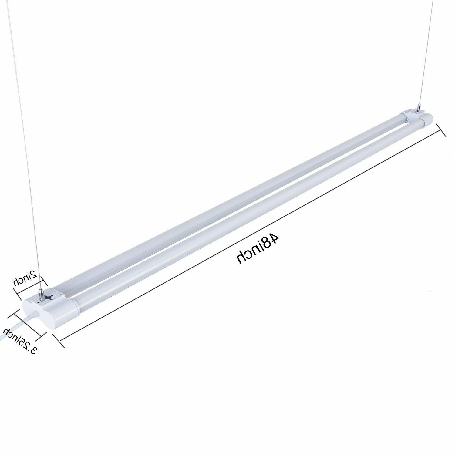 LED LIGHT 6500K Garage Fixture 4000lm 4FT Utility Ceiling 4 PACK