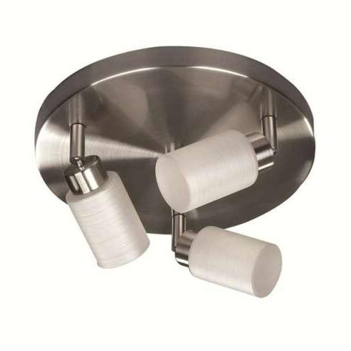 Canarm Margo 3 Light Ceiling/Wall Fixture in Brushed Pewter