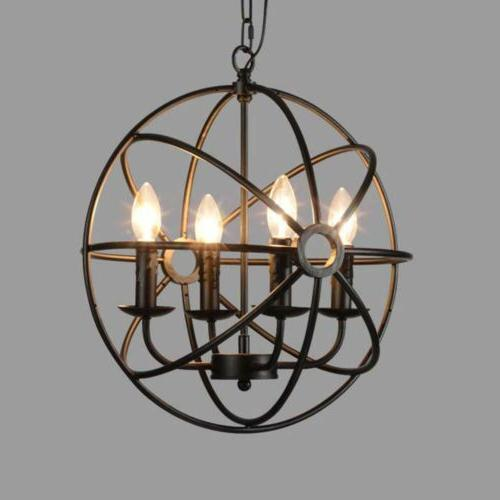 Metal Globe Ceiling Pendant Light Fixture