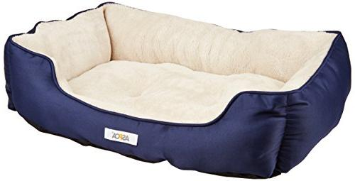 microtech striped dog bed cuddler