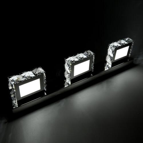 Modern Crystal Mirror Front Lamp Fixture