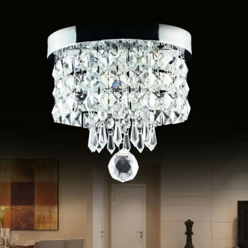 Modern Chandelier Crystal LED Ceiling Pendant Lamp