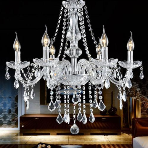 Modern Crystal Glass LED Ceiling Fixture Pendant Lamp