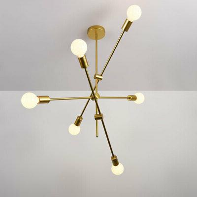 Modern Gold Metal Fixture Adjustable