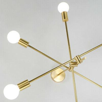 Modern Gold Metal Fixture Arms Lamp