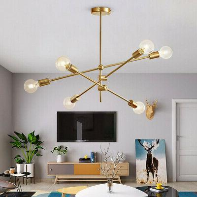 modern gold metal ceiling fixture adjustable branch