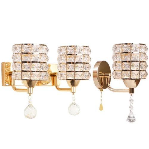 modern led crystal wall lamp sconce light