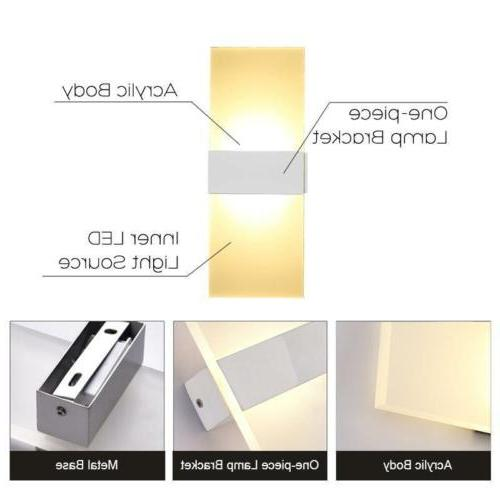 Modern LED Wall Up Cube Indoor Outdoor Sconce Lamp Fixture