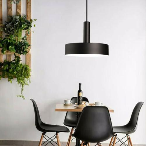Modern Light Hanging Metal Suspension Black