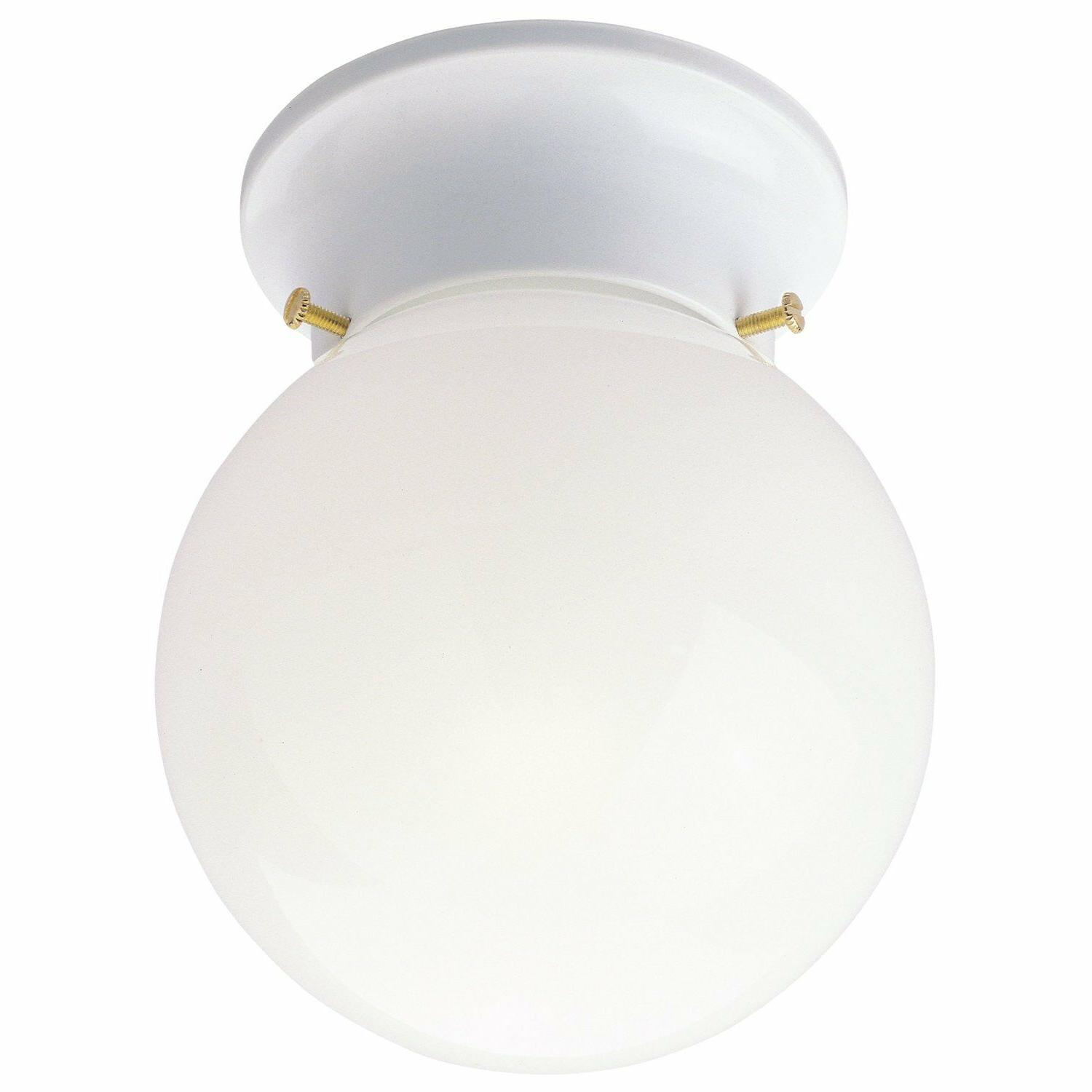 Westinghouse One-Light Flush-Mount Ceiling Fixture White Fin