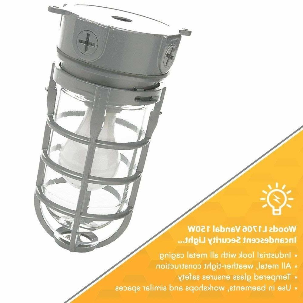 Outdoor Porch Ceiling Fixture Metal Silver