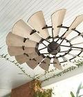 "Quorum OUTDOOR WINDMILL Ceiling Fan 72""; Light Kits Now Avai"