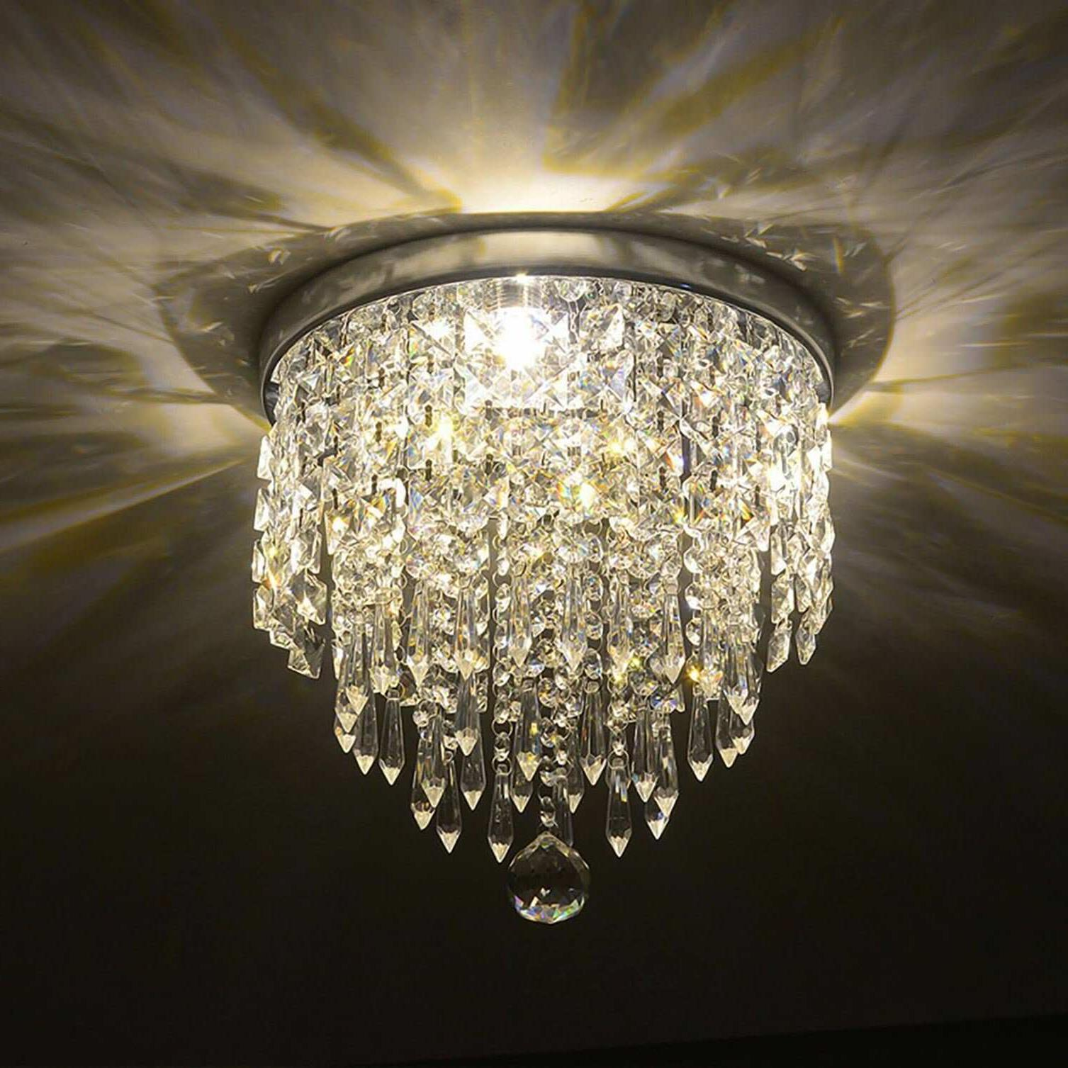 pendant ceiling lamp crystal ball fixture light