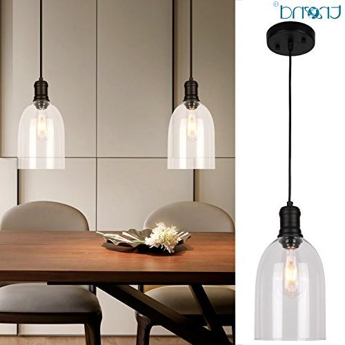 pendant glass kitchen light vintage