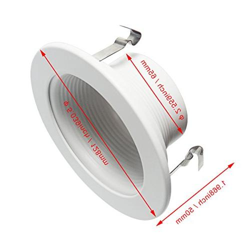 Signstek Pack 4 Inch Can Trim Fit Halo Housing