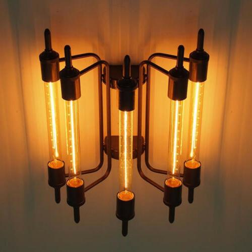 Retro Steampunk 5 Lights Industrial Close to Ceiling Fixture