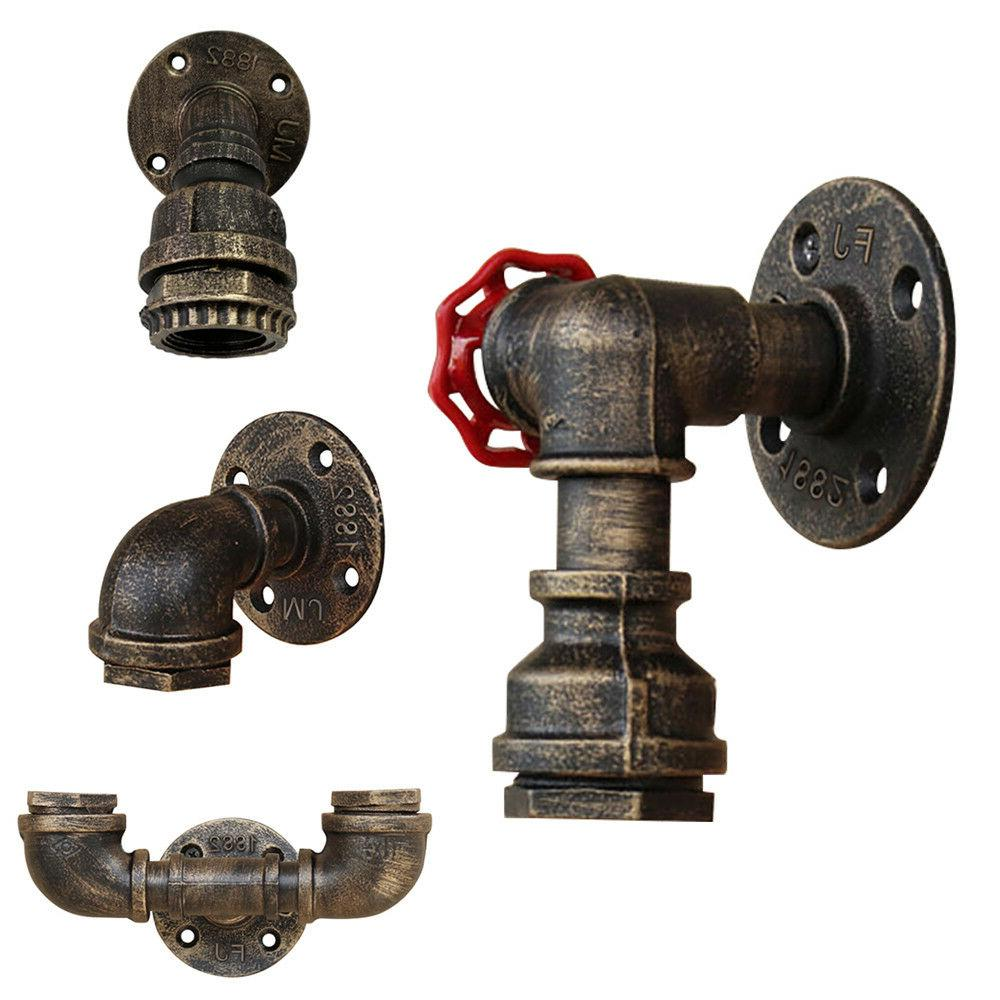 retro vintage industrial iron water pipe wall
