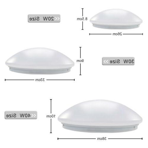 Round LED Ceiling Fixture Lamp Modern