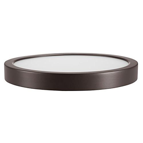GetInLight Round 8-inch Flush , 14 Finish, Soft White, 80W Replacement, Rated, IN-0306-2-BZ