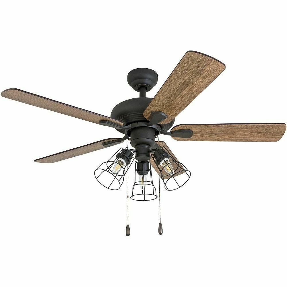 Rustic Ceiling Fan with Lights Farmhouse Light Fixture Chand