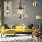 Rustic Crystal Chandelier Antique Vintage Lighting Light Fix
