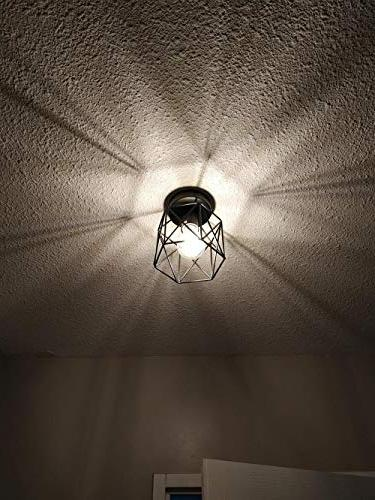 Small Rustic Ceiling Flush Light for Hallway Kitchen