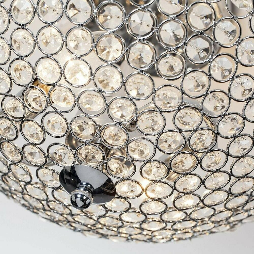 Semi Flush Ceiling Light Fixture Modern Crystal