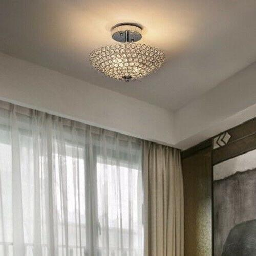 Semi Flush Mount Light Crystal Clear