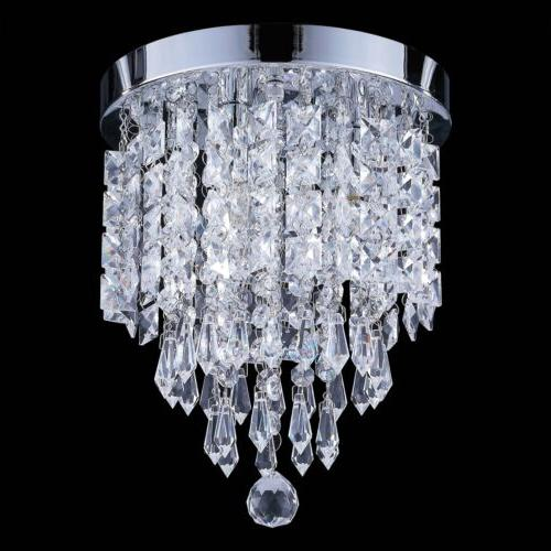 Hot Ceiling Lamp Crystal Ball Fixture Chandelier Flush Mount Light