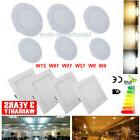 ultra thin ceiling panel light dimmable flat