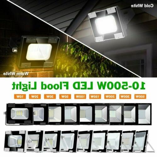 10-500Watt Bright LED Flood Light Cool White Outdoor Spotlig