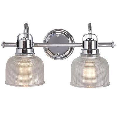 Vanity Wall 2 Light Fixture Brushed Glass