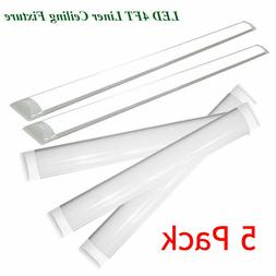 LED Batten Light, 4FT LED Shop Light 6000K Cool White Ceilin