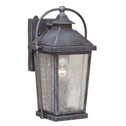"""Vaxcel Lexington 8"""" Outdoor Wall Light, Colonial Gray - T037"""