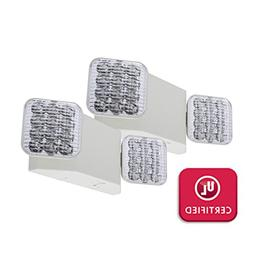 LFI Lights - 2 Pack - UL Certified - Hardwired LED Emergency