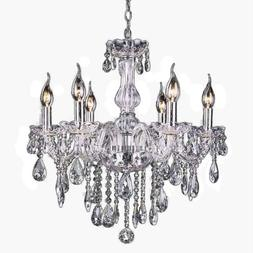 luxury crystal pendant 6 candle lamp ceiling