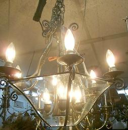 MAXIM 7303 CLPE Pewter Finish Clear Beveled Glass LIGHT FIXT