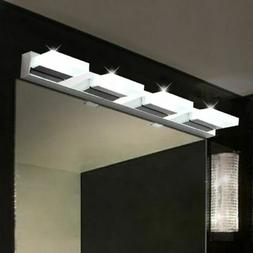 Modern Bathroom Vanity 4 LED Light Crystal Front Mirror Toil
