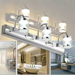 Modern Bathroom Vanity LED Light Front Makeup Mirror Toilet