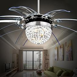 RS Lighting Modern Fashion 42-Inch Blades Ceiling Fan With L