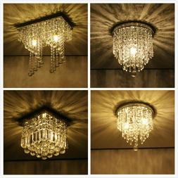 Modern Chandelier Crystal Ball Fixture Pendant Ceiling Lamp