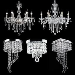 modern chandelier crystal glass led ceiling light