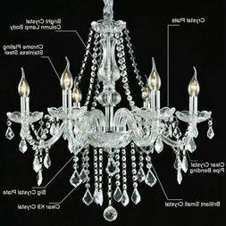 Modern Chandelier Crystal Pendant 6 Candle Lamp Ceiling Ligh