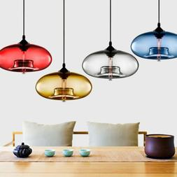 Modern Colored Glass Ceiling Light Chandelier Loft Lighting