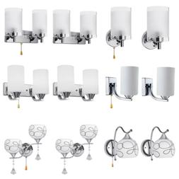 modern crystal glass wall sconce light lighting
