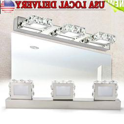 Modern Crystal LED Mirror Front Light Make-up Wall Lamp Fixt