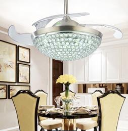 modern invisible ceiling fan light 42 led