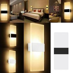 modern led wall light up down cube
